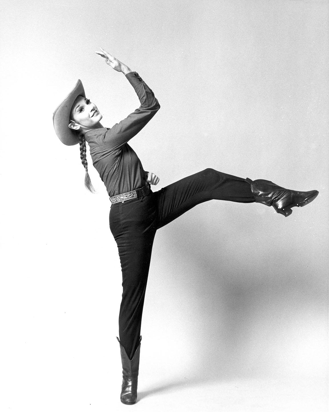 Susan Jones as the Cowgirl in <i>Rodeo</i>. Photo: Kenn Duncan.