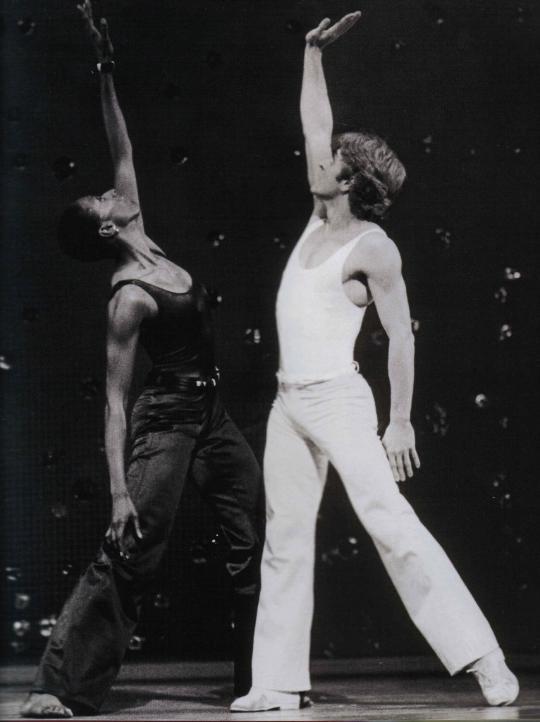 Judith Jamison and Mikhail Baryshnikov in <i>Pas de Duke</i>. Photo: Beatriz Schiller.