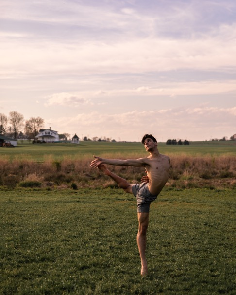 João dancing at the farm in Virginia.