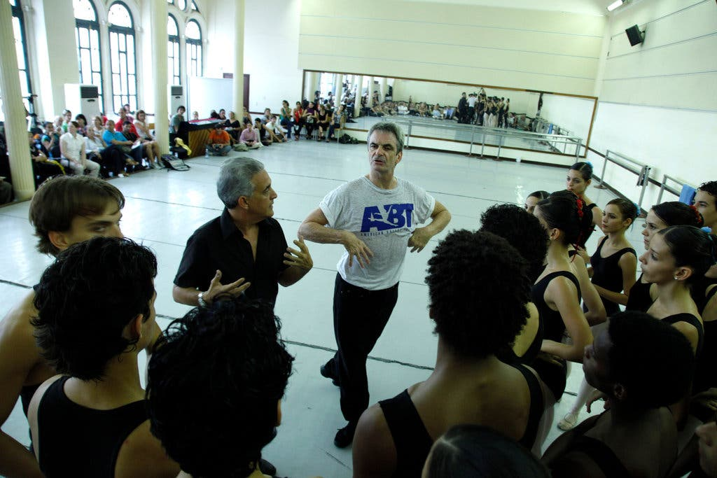 Kevin McKenzie teaching a master class to the students of The Cuban National Ballet  School, 2010. Photo by Jose Goitia.