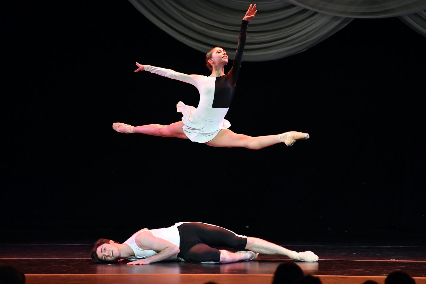 Teresa D'Ortone and Tristan Brosnan in Amy Hall Garner's <i>Escapades</i> in the 2019-2020 season. Photo: Vince Bucci.