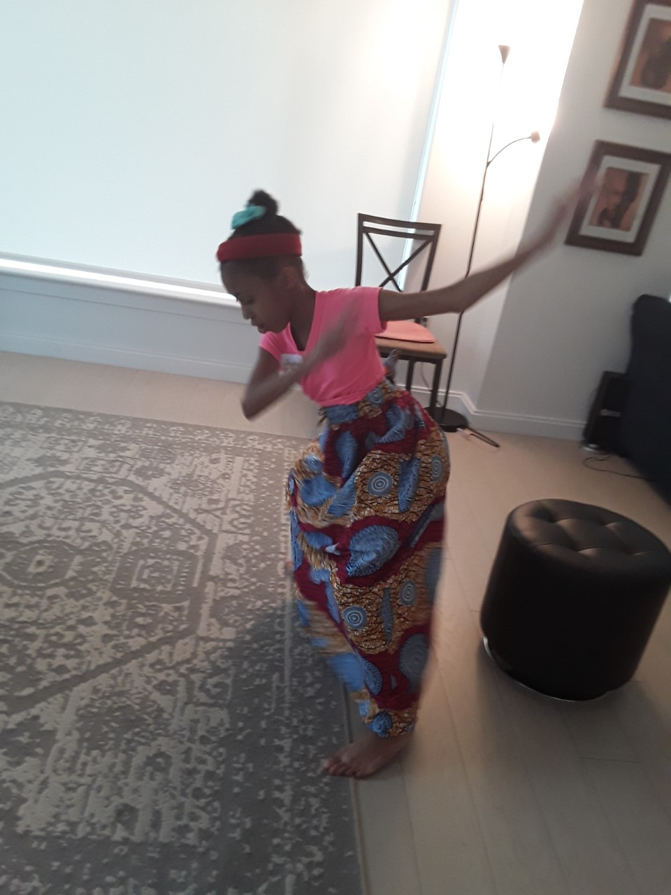 ABT RISE Weekend participant in Afro Caribbean dance class.