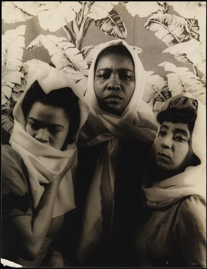 Dorothy Williams, Maudelle Bass, and Muriel Cook in Agnes de Mille's <i>Black Ritual</i>, 1940. Photo: Carl Van Vechten.