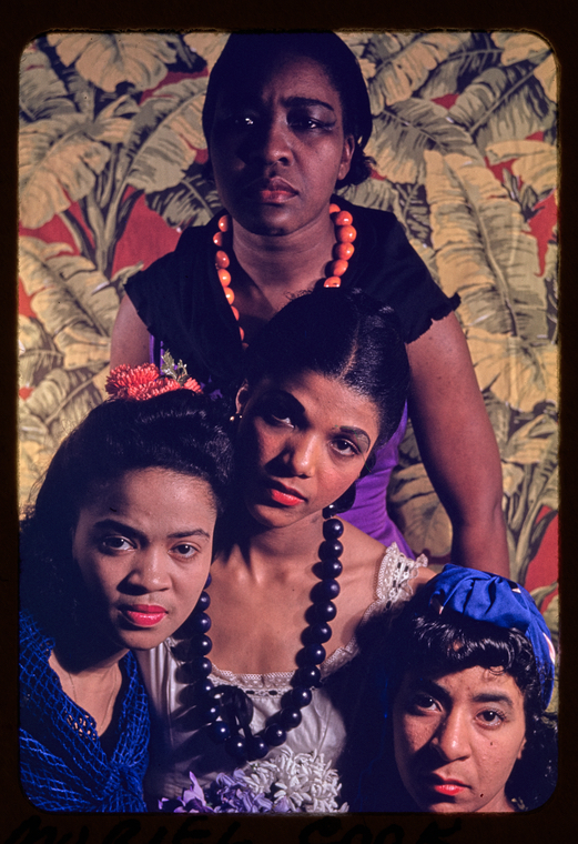 Dorothy Williams, Maudelle Bass, Muriel Cook, and Lawaune Kennard in Agnes de Mille's <i>Black Ritual</i>, 1940. Photo: Carl Van Vechten.