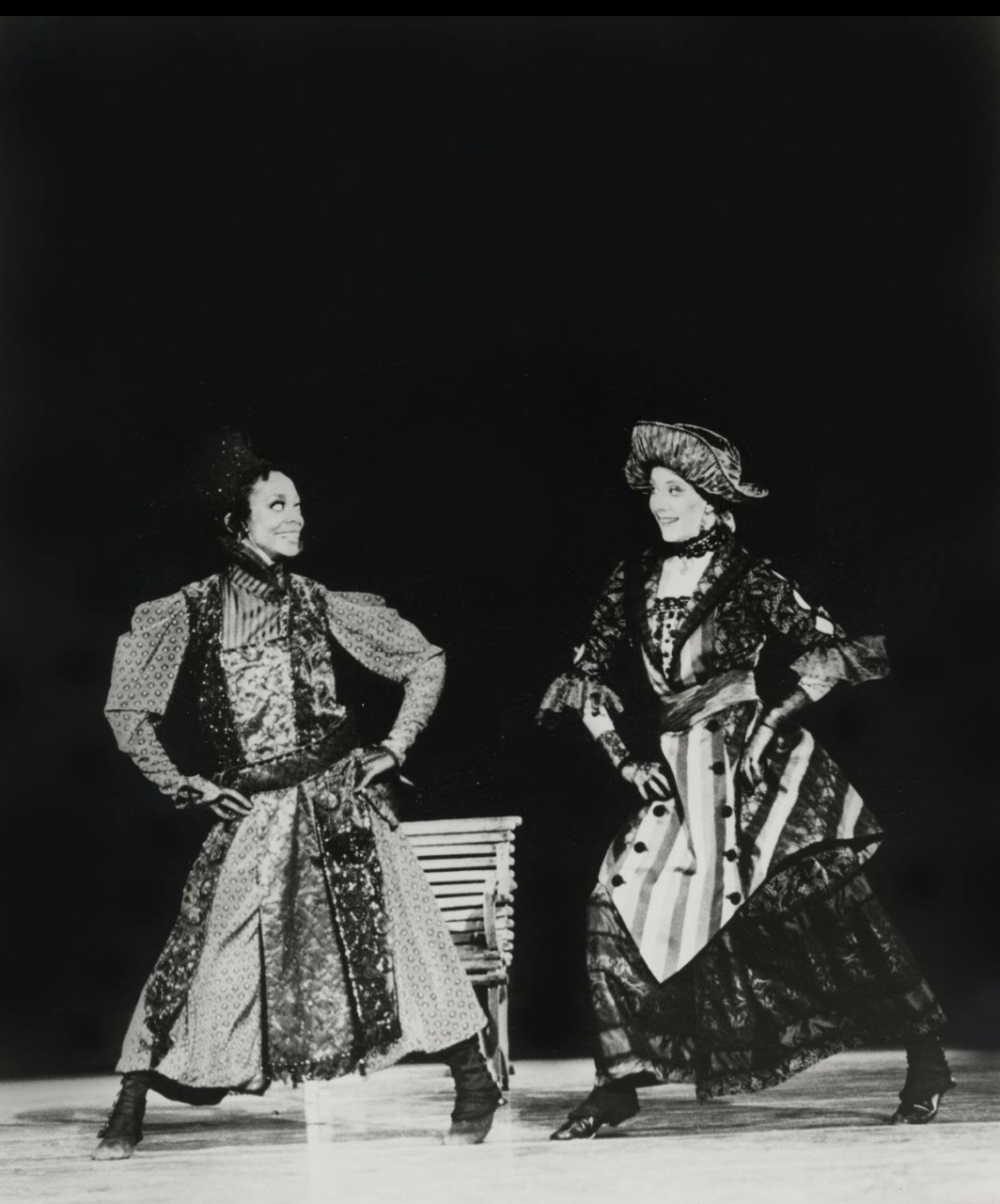 Shelley Washington and Kathleen Moore in Twyla Tharp's <i>Everlast</i>. Photo courtesy Washington.