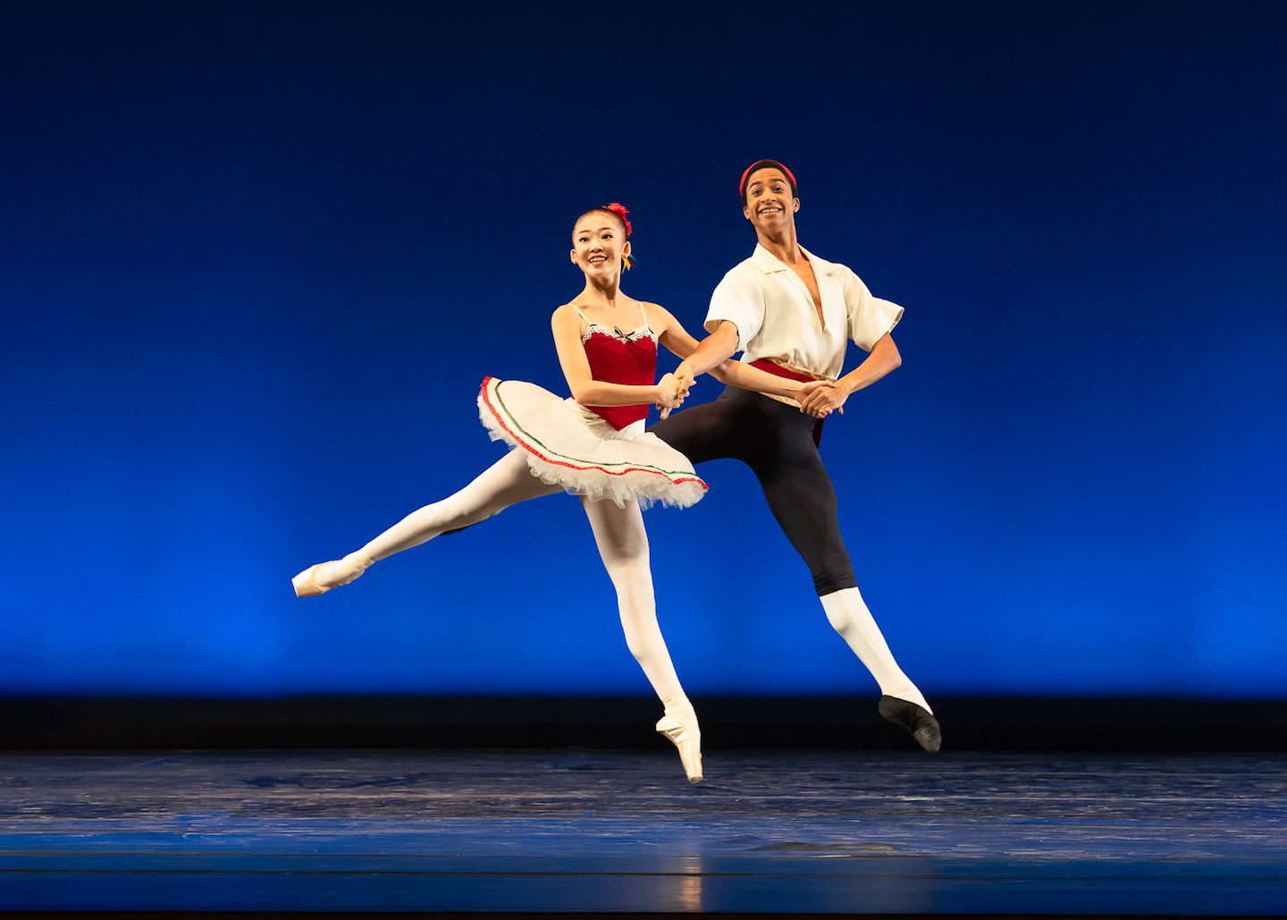 Kanon Kimura and Melvin Lawovi in George Balanchine's <i>Tarantella</i>. © The George Balanchine Trust. Photo: Kyle Froman.