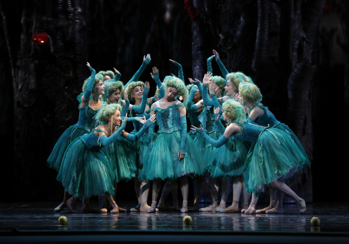 The maidens in Alexei Ratmansky's <i>Firebird</i> wear whimsical wigs. Photo: Marty Sohl.